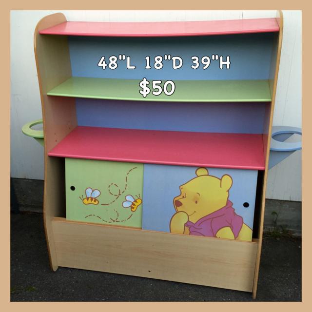 Winnie The Pooh Bookshelf Toy Shelf With Lower Cubby XP NH Beban