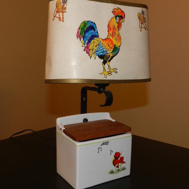 country rooster decor lamp home debbiedoos french