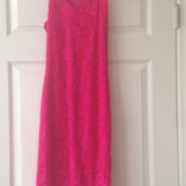 098d5787b20 Best Gianni Bini Hot Pink Lace Dress. Brand New