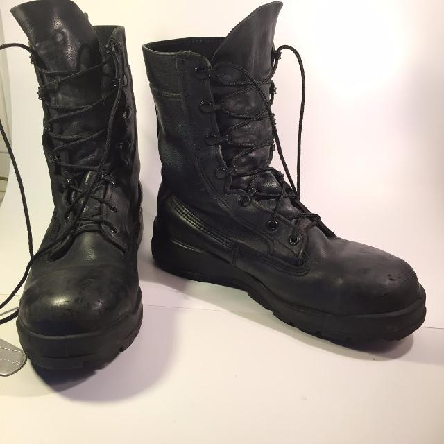 Best Usn-navy-women's Belleville Leather Military Boots 360st Sz ...