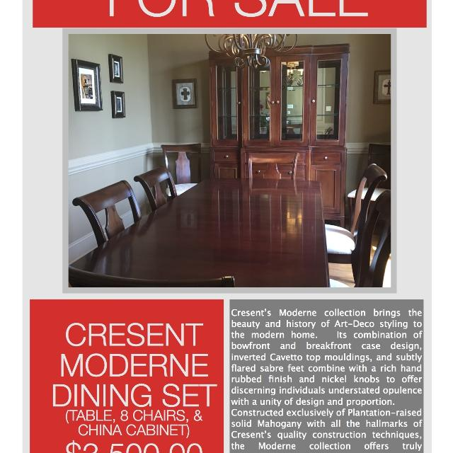 Best Doerr Furniture Cresent Moderne Dining Set For Sale In
