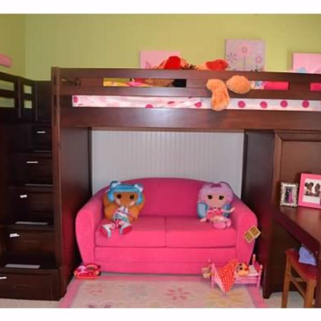 02694f57f0b6 Best Ivy League Cherry Twin loft Bunk Bed W chest And Desk Attachment for  sale in Marietta