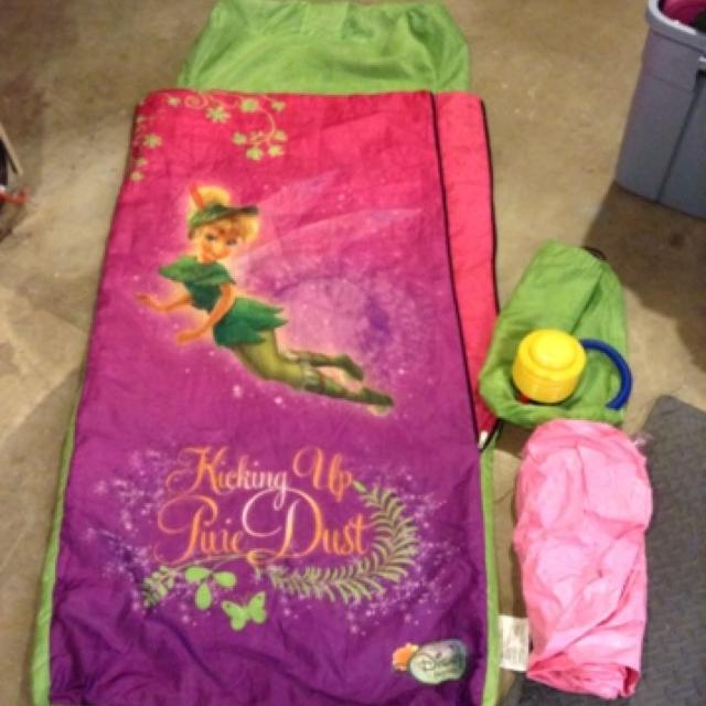 Tinkerbell Sleeping Bag With Inflatable Air Mattress Built In Reduced 15