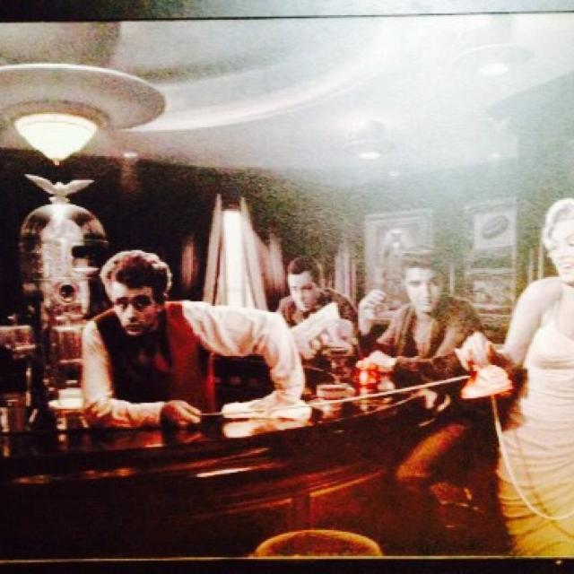 Best Marilyn Monroe And James Dean With Elvis Presley Art For Sale