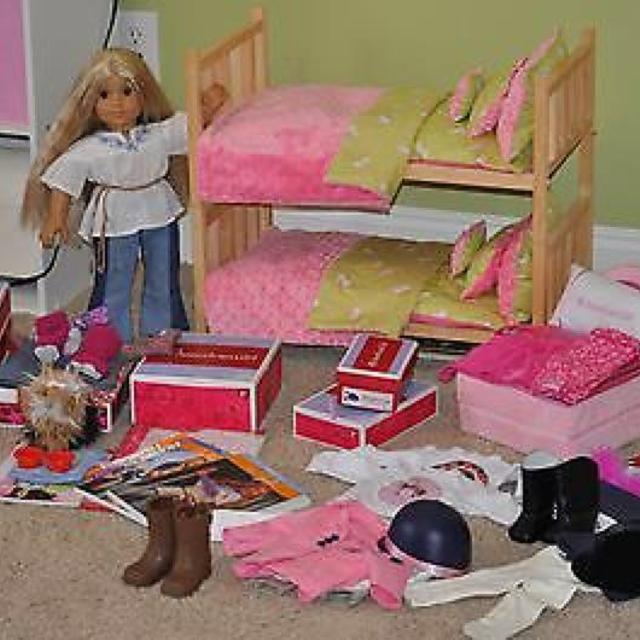 Ultimate American Girl Set Includes Ag Doll Julie Custom Made Bunk Beds And Bedding Ah Dog Sugar Ag Travel Bed 2 Ag Books So Much More