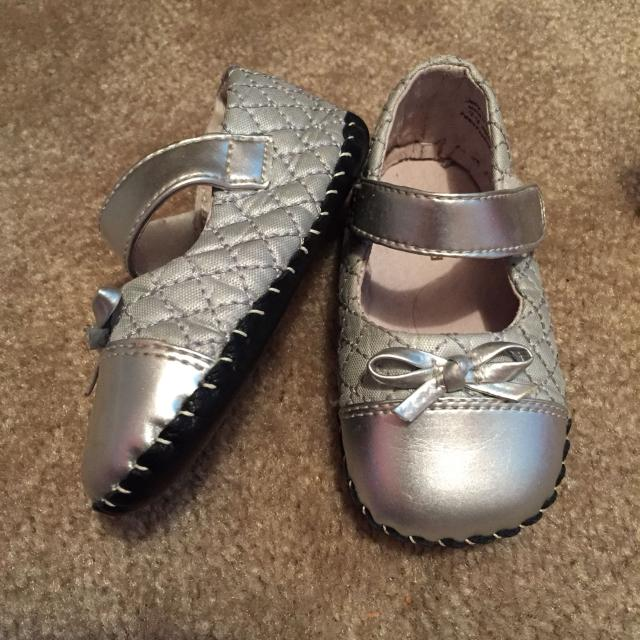 bec184a18ac Find more Pediped Soft Sole Silver Shoe. Gently Used. Size 12-18 ...