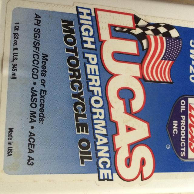 Left over Lucas motorcycle oil for sale
