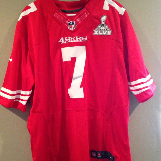 check out 6bd39 9010e Colin Kaepernick San Francisco 49ers Red Authentic Nike Elite Jersey sz 44  Mens with superbowl patch 10$