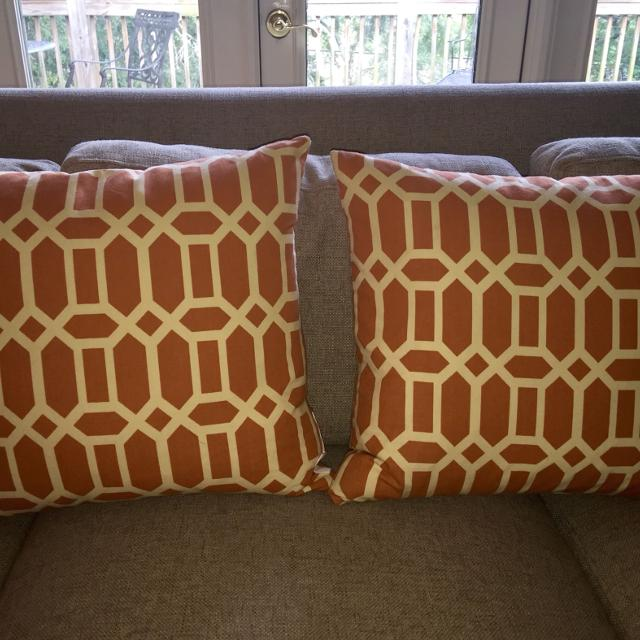 Find More 40 Orange And Off White Storehouse Pillows 40x40 For Sale Adorable Storehouse Decorative Pillow