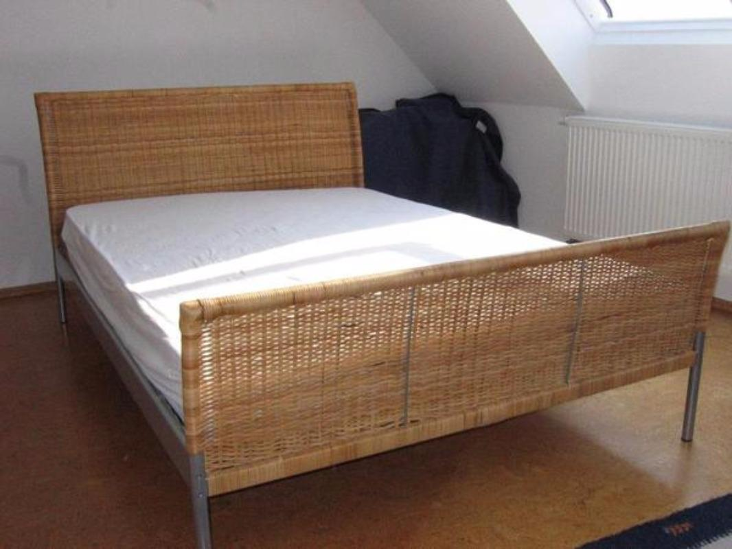 Find more Free! Ikea Dokka Queen-sized Wicker/rattan Bedframe for ...