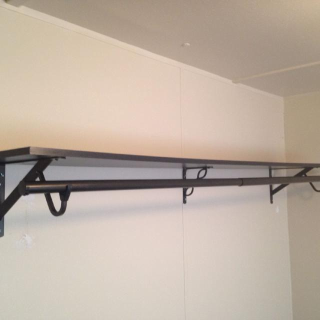 Closet Shelf With Hanging Bar