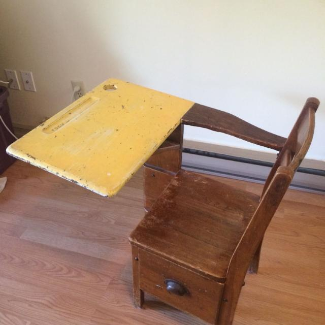 find more vintage solid wood schoolhouse desk chair for sale at up
