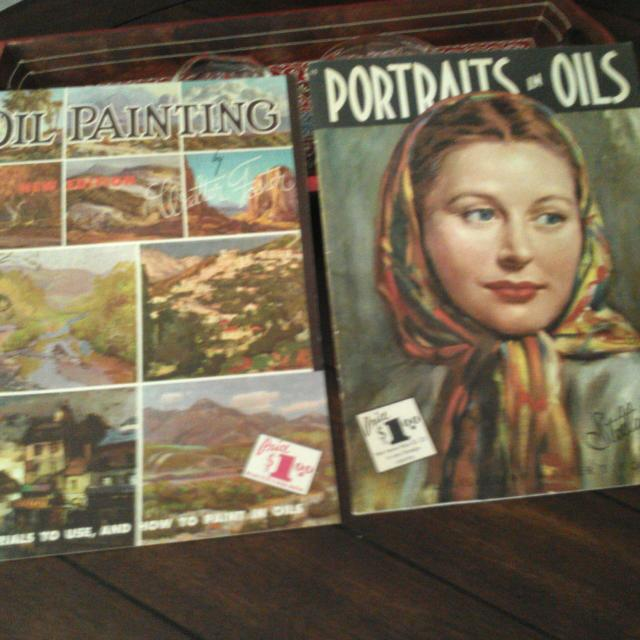Walter Foster Portraits And Oil Painting Art Books