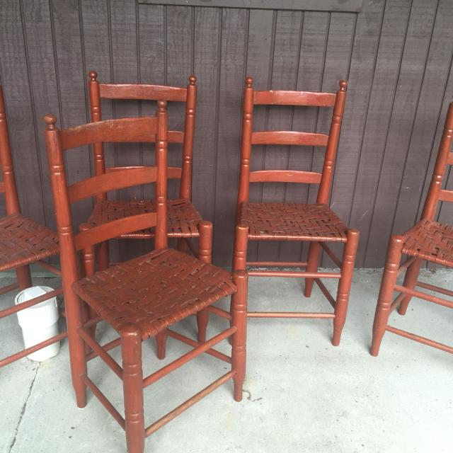 Antique ladder back chairs. Good condition. - Best Antique Ladder Back Chairs. Good Condition. For Sale In Mount