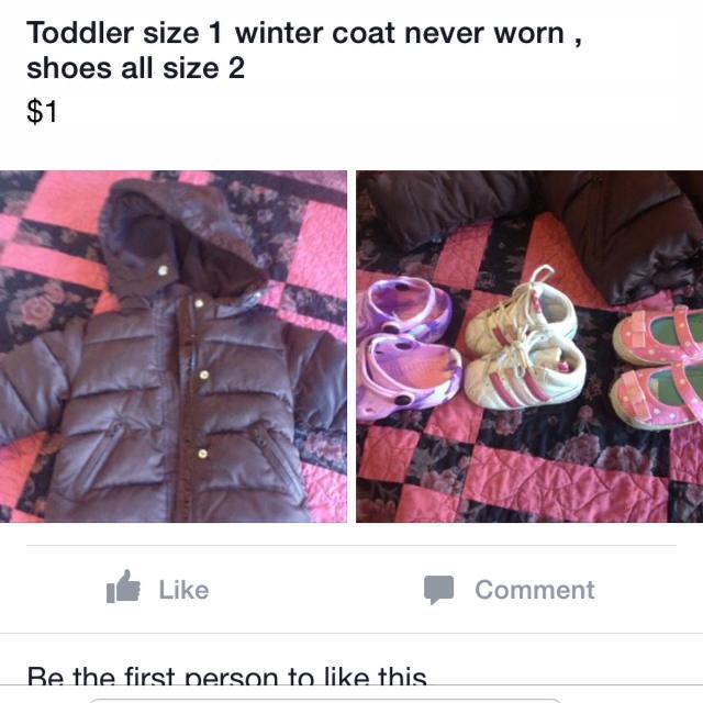 c1204674150c4 Best Never Worn Winter Coat 10.00 . Toddler Size 1