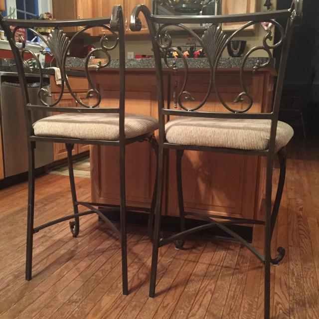 Best Ashley Furniture Wrought Iron Bar Stools For Sale In