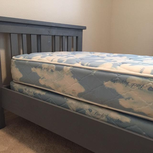 Find More Custom Made Twin Bed Frame Mattress And Box Spring For