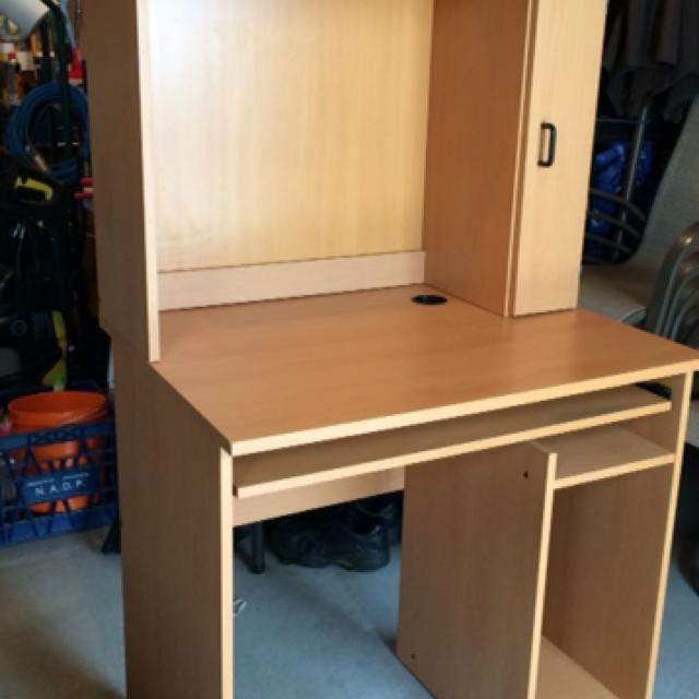Ikea Computer Desk Hutch Excellent Condition Good For Small Es W 31 5 In L 24 H 60 Keyboard Tray And Cd Rack