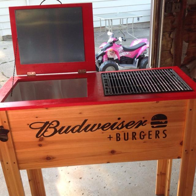 Budweiser grill and cooler - final price $60