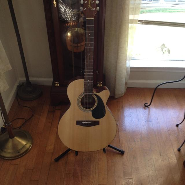 find more jasmine acoustic guitar by takamine s34c nex cutaway with stand for sale at up to 90. Black Bedroom Furniture Sets. Home Design Ideas