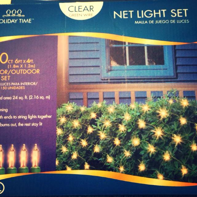 christmas lights bush netting new price per box