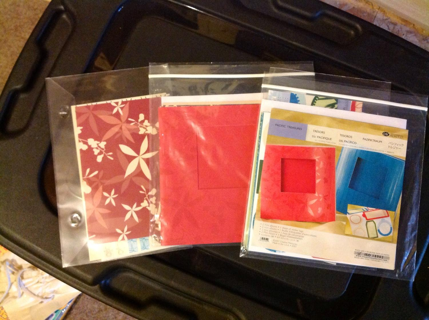 Lot of Mini Paper Albums and Accents