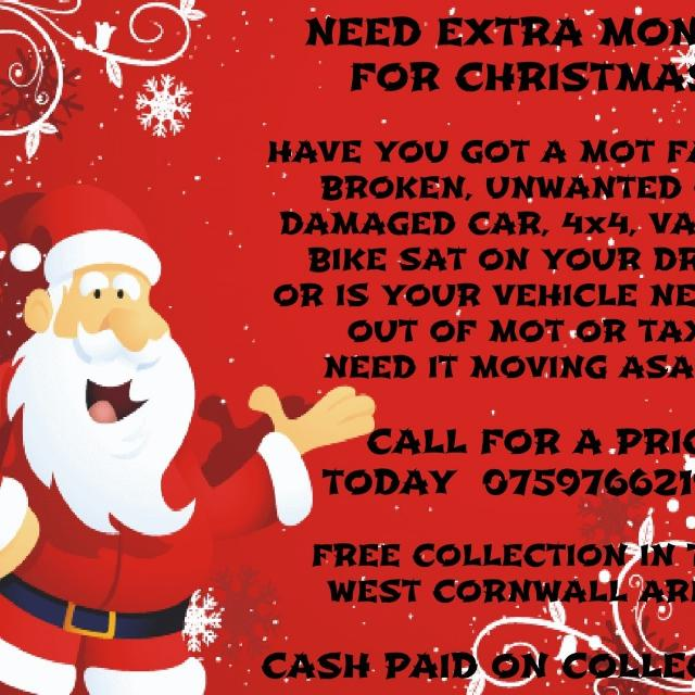 7d4ec434b5 Best         Need Extra Money For Christmas        Have You Got A Mot Failed