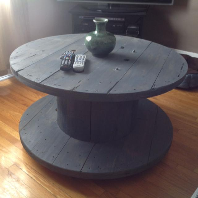 Find more Electrical Wire Spool Coffee Table On Coasters. 36w X ...