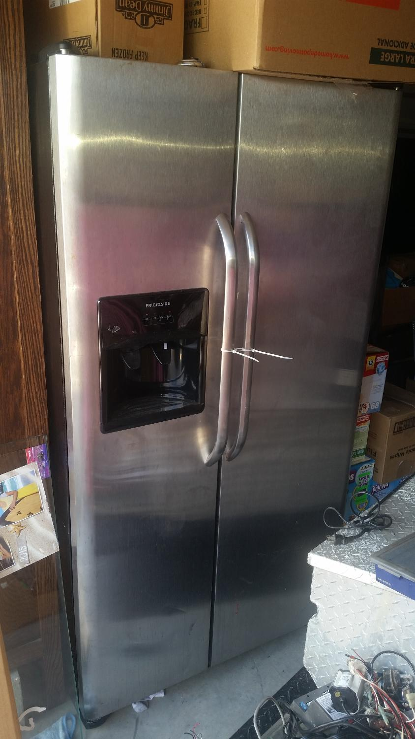 Frigidaire stainless steel side by side refrigerator