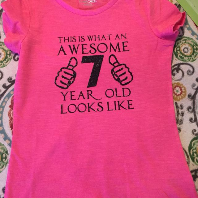 Custom Made Birthday Shirt Your Choice Of Color Number And Vinyl