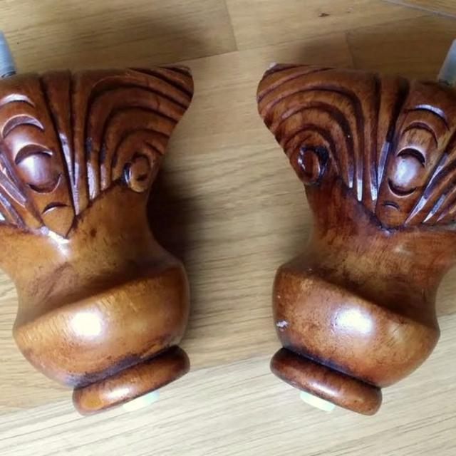 New Carved Wooden Sofa Legs Chair Feet Wood Claw Foot Set Of 4