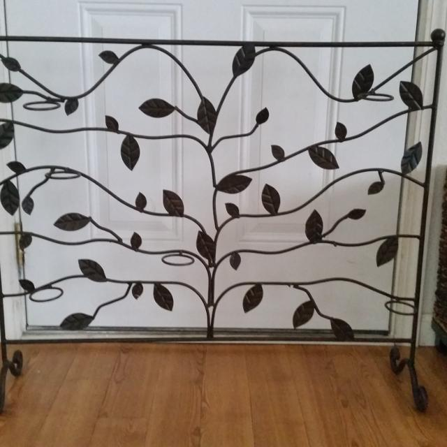 Best Metal Fireplace Screen Candle Holder For Sale In New