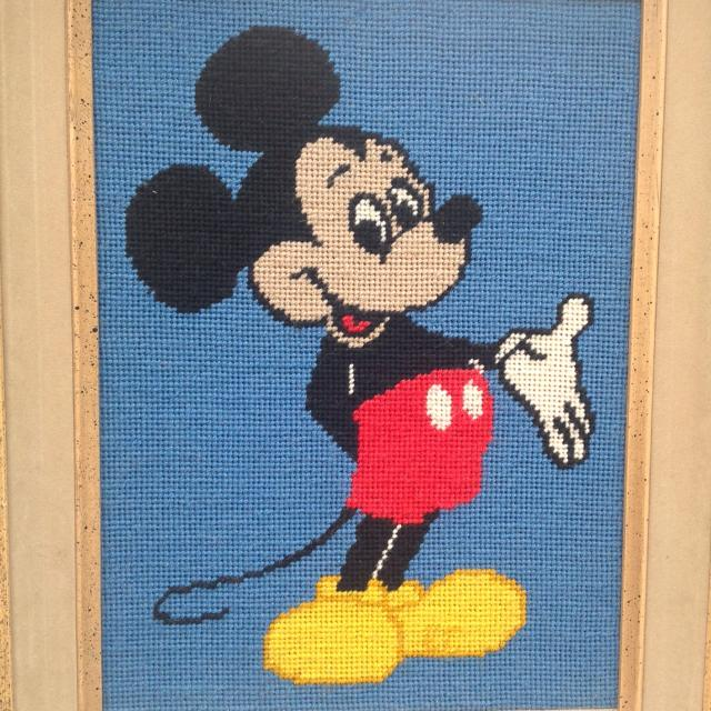 Best Mickey Mouse Needlepoint Framed Picture. Frame Measures 15 X 18 ...