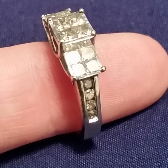 e6be7d5c5605c 1.00 Ctw zales 10k white gold diamond engagement ring