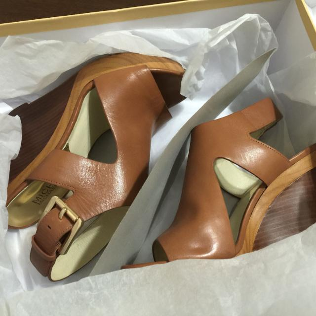 ebb80c09d3c7 Best Michael Kors Josephine Wedge Luggage Color Sandals Size 6 for sale in  Rowlett
