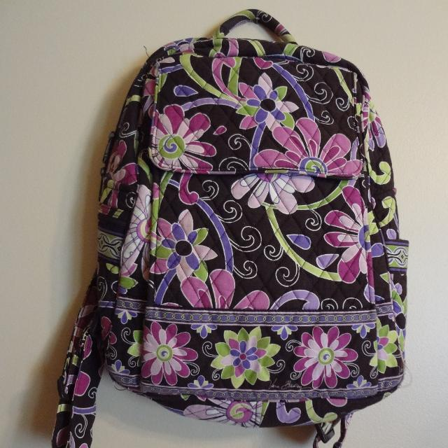 Vera Bradley Purple Punch Large Backpack