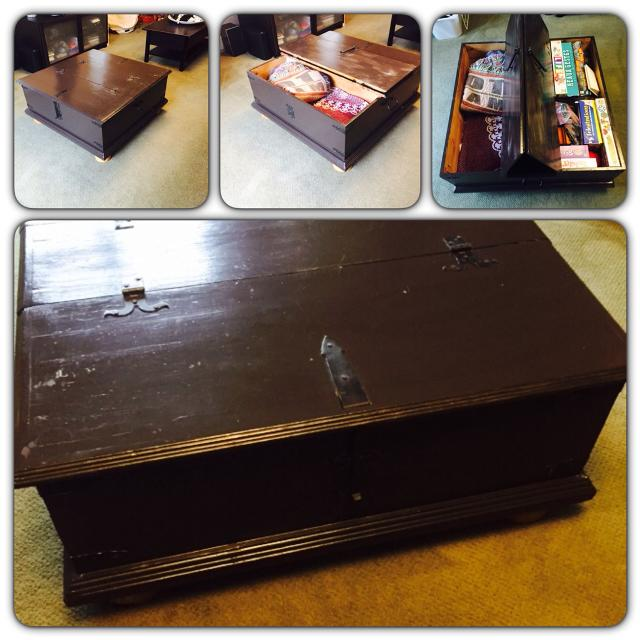 Awesome Storage Style Coffee Table Painted With Benjamin Moore Black Bean Soup Color No