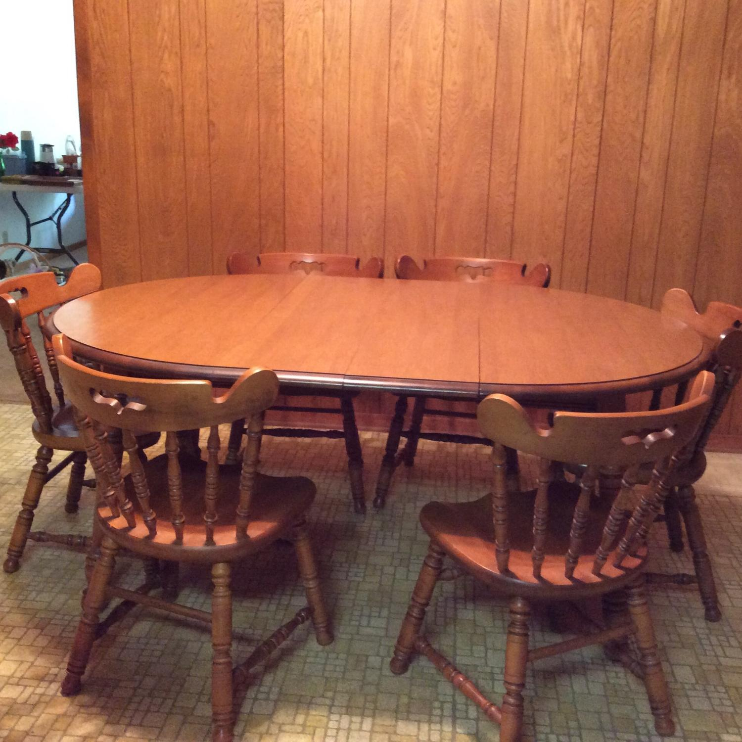 Find More Tell City Table With 6 Chairs For Sale At Up To