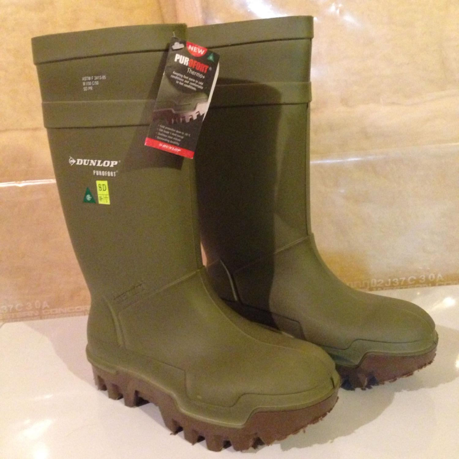 bc7370d5c99 Dunlop Purofort Thermo+ Steel Toe Rubber Boots - NWT