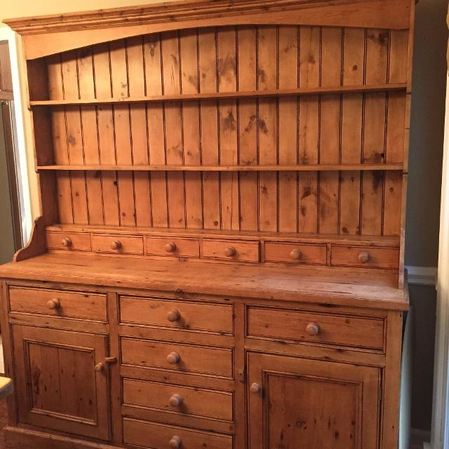 find more old english pine spice dresser and hutch for sale at up to 90 off. Black Bedroom Furniture Sets. Home Design Ideas
