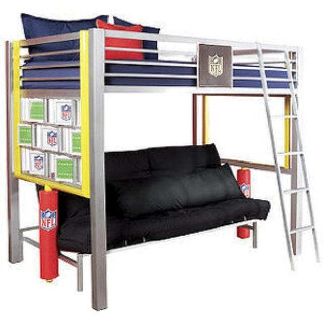 Double Bunk Bed Futon Combo Nfl