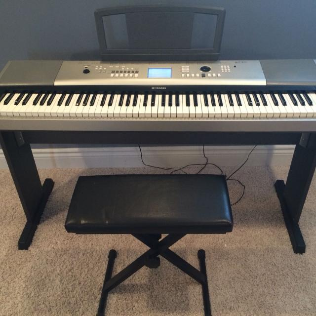 Find more keyboard piano electric piano yamaha ypg 525 with bench stand and pedal 88 keys for Yamaha fully weighted keyboard