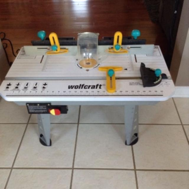 Find more wolfcraft router table 490 for sale at up to 90 for Table wolfcraft