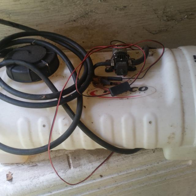 15 gallon 12 volt sprayer for atv/mover  Works great  Purchased from  tractor supply