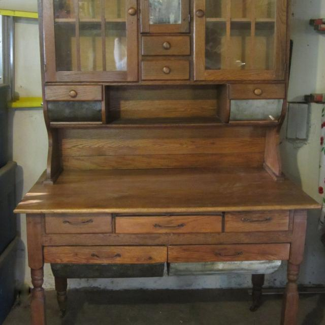 Find More Oak Hoosier Cabinet W Possum Belly Drawers For Sale At Up To 90 Off Overland Park Ks