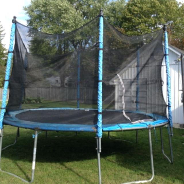 Trampoline Springs Off: Find More Gently Used 12-ft Jumptek Trampoline With