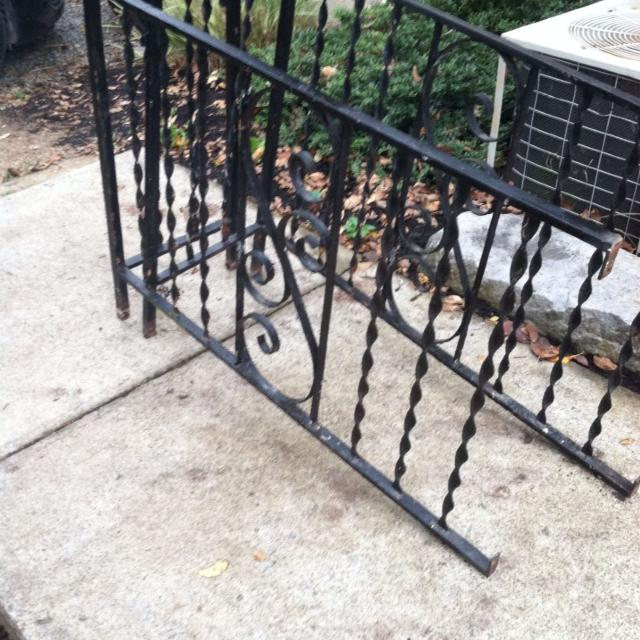 Beautiful Black Wrought Iron Porch Railing From 1950 S