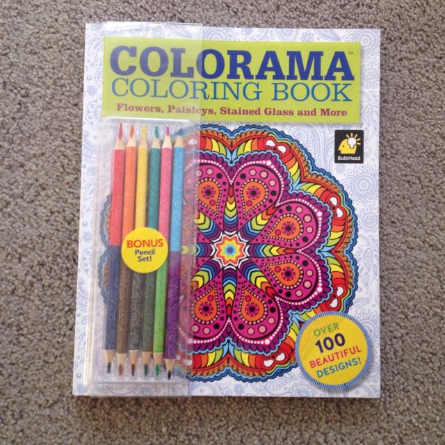 NEW Colorama As Seen On TV Item Colouring Book With Pencils
