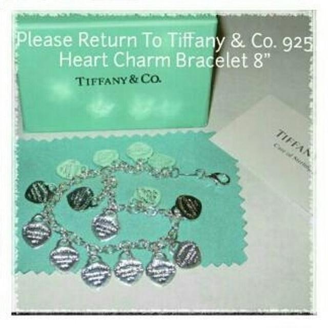 Tiffany Co 925 Multi Heart Tag Bracelet