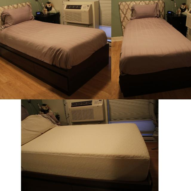 Twin Bed Frame Tempur Pedic Mattress Protector 2 Sets Of Linens